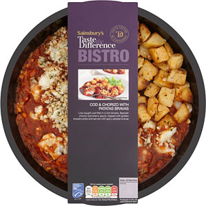 Patatas bravas con chorizo (TESCO LONDON)