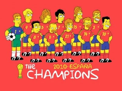 Selección española Simpsons